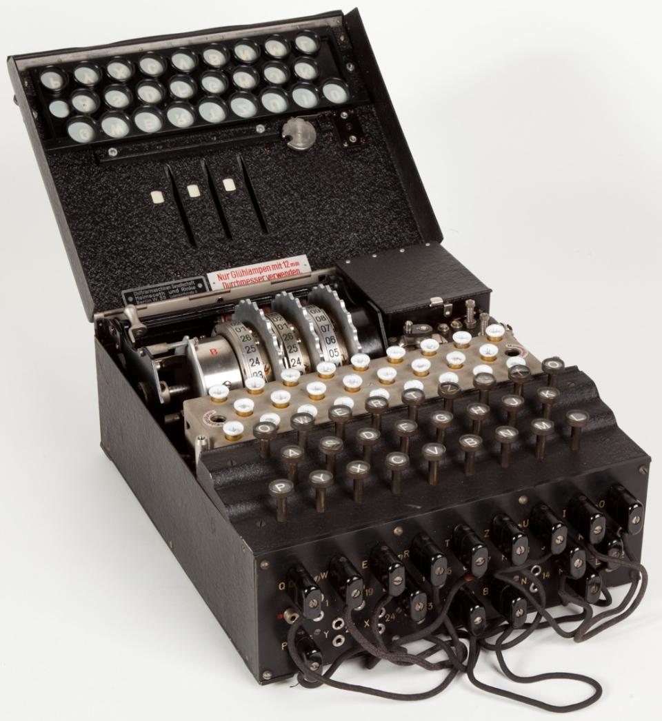 A German Enigma Machine from the World War II era