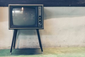 An old-fashioned TV